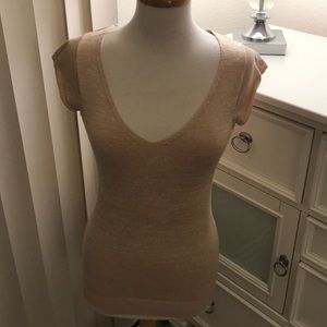 Sweater with cap sleeves